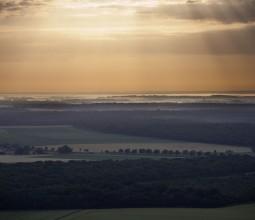 La forêt de Citeaux vue du ciel