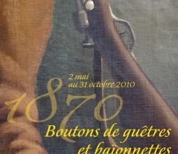 Design graphique de l'exposition «1870, boutons de guêtres et baïonnettes», au Musée de Nuits-Saint-Georges