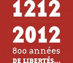 Design graphique de l'exposition 1212-2012, 800 années de libertés… au Musée de Nuits-Saint-Georges